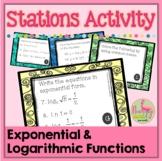 Algebra 2: Logarithms Stations Activity