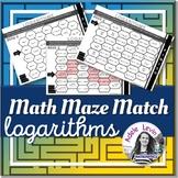 Logarithms (MATH MAZE MATCH)
