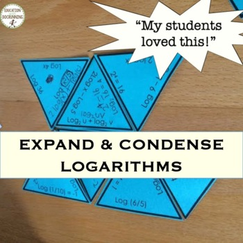Expanding and Condensing Logarithms Puzzle Activity Mixed Review