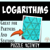 Logarithms activity Expanding and Condensing Logarithms Puzzle Distance Learning