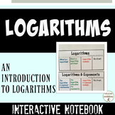 Logarithms Interactive Notebook Color Coded Notes and Practice Problems