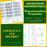Logarithms Properties & Transformation Algebra 2 Lesson +
