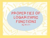 Exponential Functions Lesson 4 Properties of Logarithms
