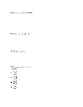 Logarithms Quiz