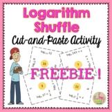 Logarithms Shuffle Freebie