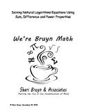 Logarithms - Solving Natural Logarithmic Equations
