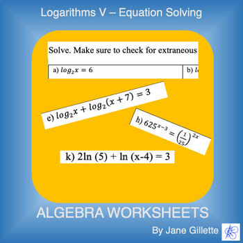 Logarithms V - Equation Solving