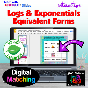 Logarithms and Exponential Equivalent Forms with GOOGLE  Slides