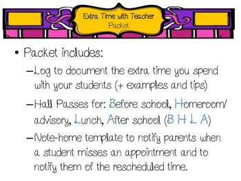 Logging Extra Time with Teacher Bundle
