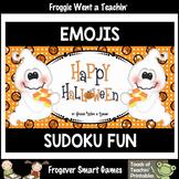 Logic--Emoji Sudoku Puzzle Gameboards/Emoji Candy Corn The