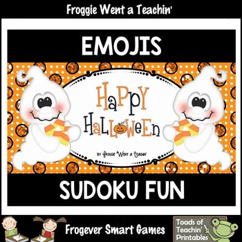 Logic--Emoji Sudoku Puzzle Gameboards/Emoji Candy Corn The