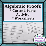 Proof - Logic - Logic Algebraic Proofs Cut, Match and Paste Group Activity