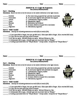 Logic & Argument Practice Activities