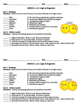 Logic & Argument Practice Activities