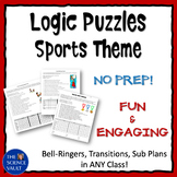 Middle School Logic Puzzle Bundle - Sports Theme
