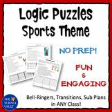 Middle School Logic Puzzle Bundle Sports Theme