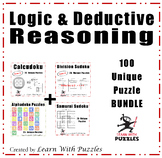 Logic & Deductive Reasoning Puzzles - 50 Unique Puzzles Bundle