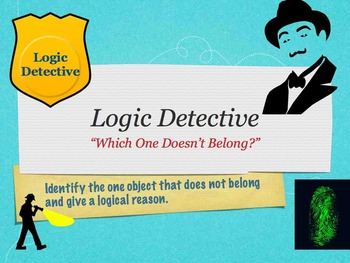 Logic Detective Game - Which One Doesn't Belong? Keynote Version (Mac)