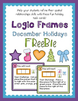 Logic Frames December Holiday Freebie - Spatial Relationships
