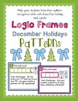 Logic Frames December Holiday Patterns - Task Cards
