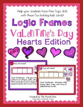 Logic Frames Valentine's Day - Hearts Edition