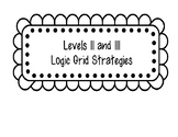 Logic Levels 2 and 3 Strategies Full Size Page Posters