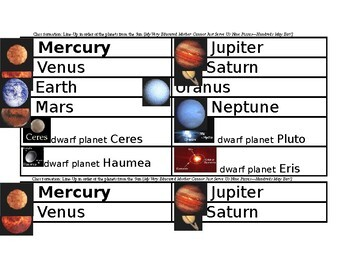 Logic LineUp: Solar System (Earth, Mars, Jupiter and Saturn)