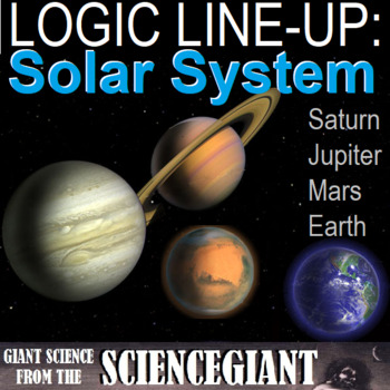 Logic LineUp: Solar System Puzzle (Earth, Mars, Jupiter and Saturn)