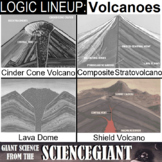 Logic LineUp: Volcanoes Puzzle (Cinder, Shield, Stratovolcano and Lava Dome)