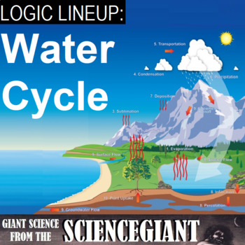 Logic LineUp: Water Cycle Puzzle (Evaporation, Condensation, Precipitation)