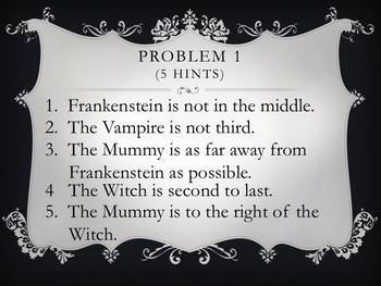 Halloween Logic Line-ups:  Monsters!