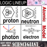 Logic LineUp: Parts of an Atom / Subatomic Particles (Prot