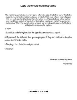 Logic Memory Game