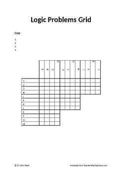 Logic Problem Grids