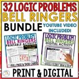 Math Logic Problems Bundle | Brainteasers | Print And Digi