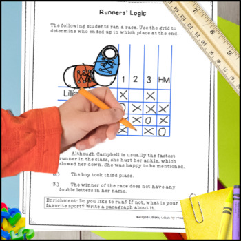 Logic Puzzles for Beginners / Brainteasers for Primary Grades