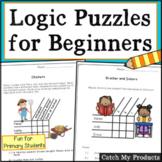 Logic Puzzles First Grade Printables and Google Docs