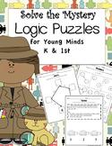 Logic Problems for Young Minds {Math Bundle for Kindergarten & First Grade}