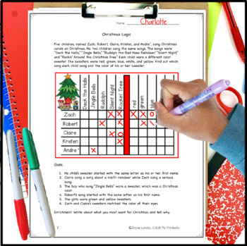 Logic Puzzles to Last the School Year BUNDLE