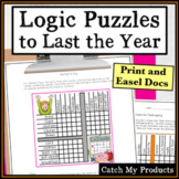 Digital Logic Puzzles Print and Google Docs for the Year