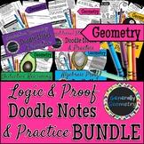Logic & Proof Doodle Notes & Practice Worksheet Bundle