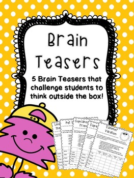 Logic Puzzle- 5 Brain Teasers for kids!