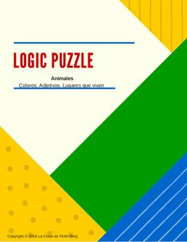 Logic Puzzle- Animales (colores, adjetivos, lugares que viven)