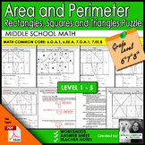 Logic Puzzle: Area and Perimeter of Rectangles, Squares & Triangles