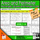 Logic Puzzle: Area and Perimeter of Rectangles, Squares &