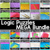Math Logic Puzzles MEGA BUNDLE Addition, Subtraction, Mult