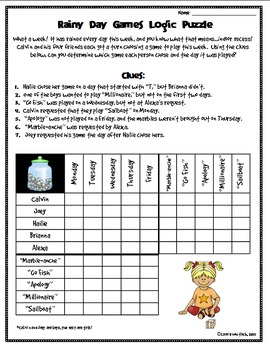 Exhilarating image pertaining to logic puzzles easy printable