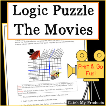 Logic Puzzle : Movie Logic Puzzle (Cinematography)