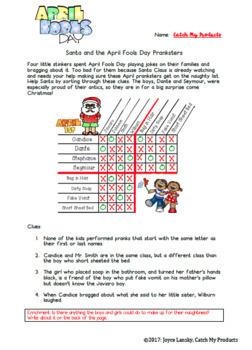Logic Puzzle for 4th Grade April Fools