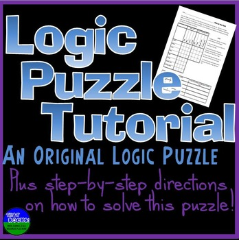 Free Logic Puzzle Tutorial by That Rocks Math Science and ELA